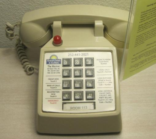 Days Inn & Suites Kill Devil Hills-Mariner: They couldnt find any rotary dial phones I guess