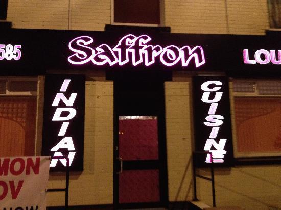 Saffron Lounge: sign