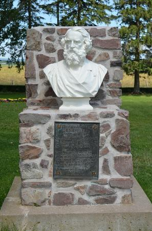 Grand Pre National Historic Site: Bust of Longfellow