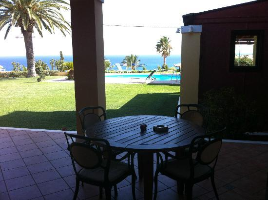 Villa Rosa : View from villa doors with patio and plunge pool