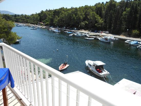 Korcula Waterfront Accommodation: View from terrace/balcony