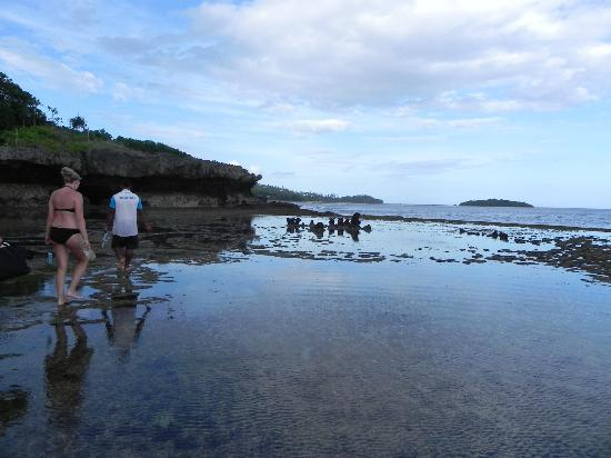 كورو سان ريزورت: kayaking over to bat island & walking to the grotto to swim