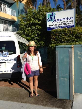 me outside Aquarius backpackers