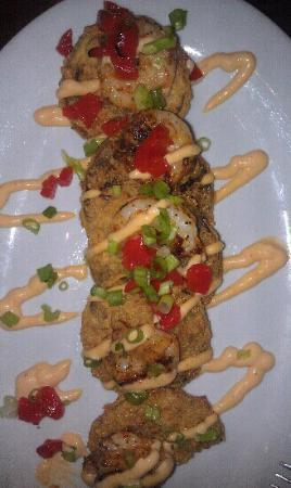 Ginny Lane Bar & Grill: Fried Green Tomatoes W/Shrimp
