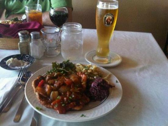 The Bakers Table: Yummy Schnitzel dinner