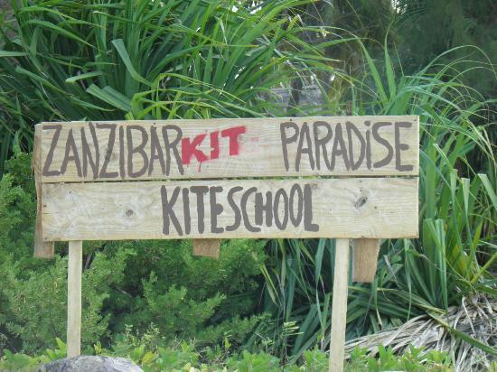 Zanzibar Kite Paradise: de kite school bord