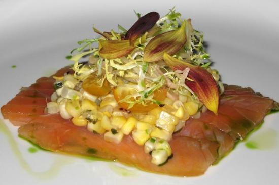 Firestone's Culinary Tavern: Smoked Salmon with corn salsa