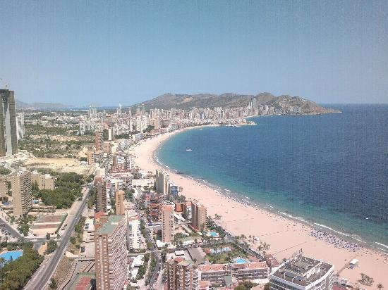 Benidorm Part Of Panoramic View From Mirador Viewing Area Floor 43 Picture Of Gran Hotel Bali Grupo Bali Benidorm Tripadvisor
