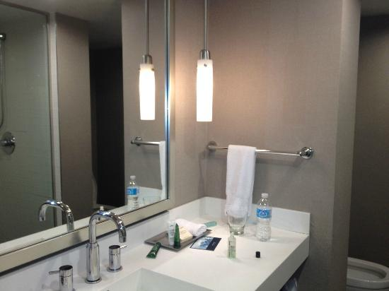 Hilton Toronto Airport Hotel & Suites: Bathroom made me think I was in a W Hotel