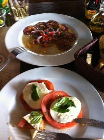 San Telmo : Carpaccio de carne y ensalada Capresse