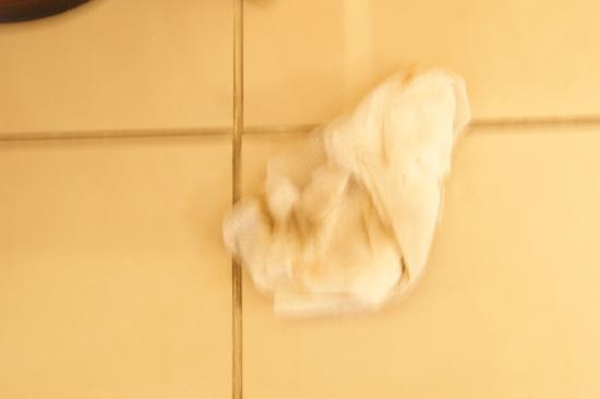 Al Sondos Suites: lysol wipe from bathroom - grout need good cleaning