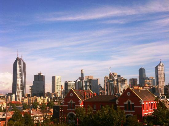 Melbourne Metro YHA: Aussicht von der Terasse