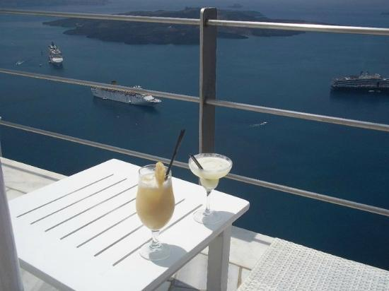Homeric Poems: drinks from the pool area bar - we had passes for one complimentary drink each