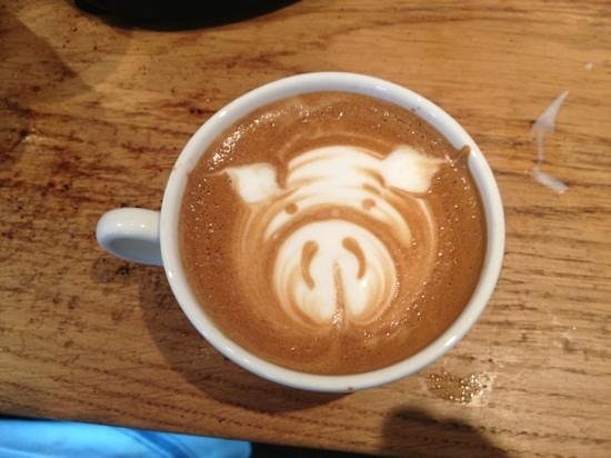 The Tickled Pig: latte art at the TP