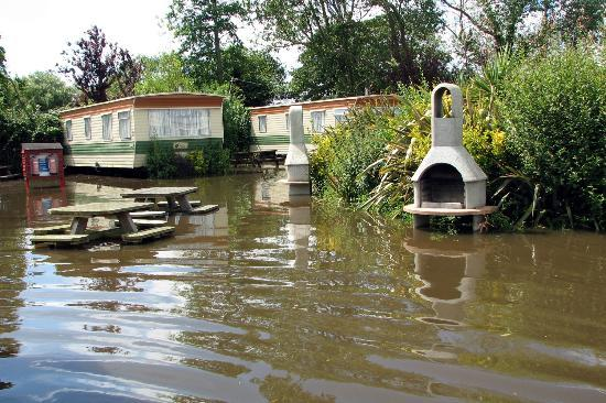Fort Holiday Park: In full flood