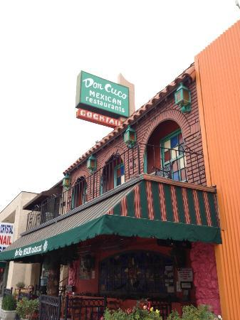 Don Cuco: Front of restaurant, adjacent to Tangerine Hotel