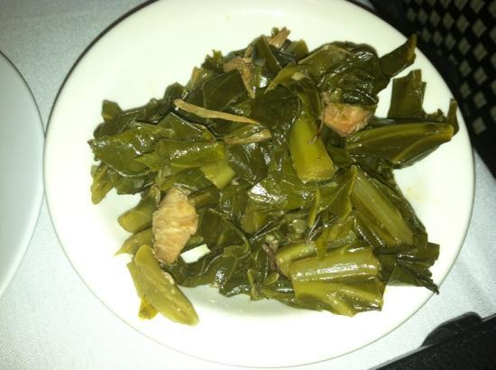 Saphron Restaurant at the Old Field  House: side, collards