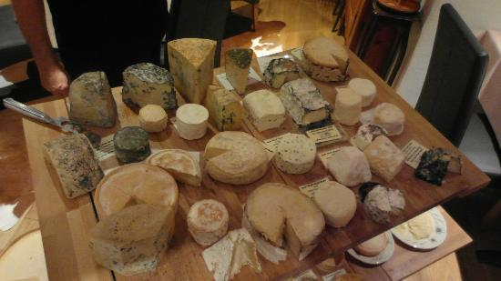 Hotel-Restaurant Alpenblick: various local cheese selections