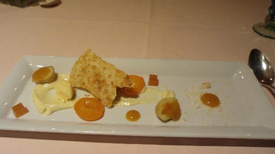 Hotel-Restaurant Alpenblick: Apricot desert course
