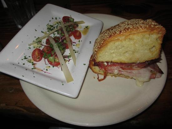 The Brick Store Pub: Muffaletta with Tomato Salad