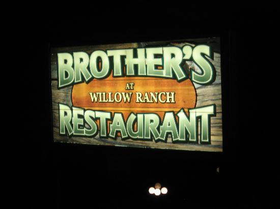 Brothers at Willow Ranch: Sign by the highway