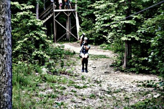 Richland Creek Canopy Tours : Zippin through the trees