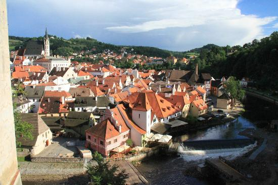 Penzion Onyx: Historic Cesky Krumlov from the Castle
