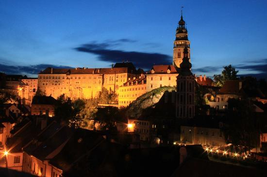 Penzion Onyx: The Castle at night, Cesky Krumlov