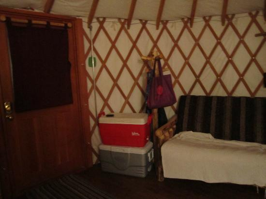 Camp Morton Provincial Park: Storage areas throughout the yurt