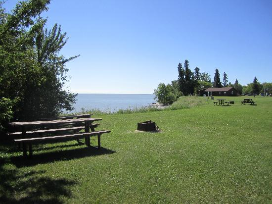 Camp Morton Provincial Park: Seldom used public use area on the south side of the yurt