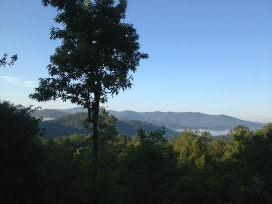 Laurel Mountain Cabins: view from azalea cabin.