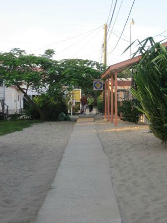 "Seaspray Hotel: ""the sidewalk"" leading to the hotel"
