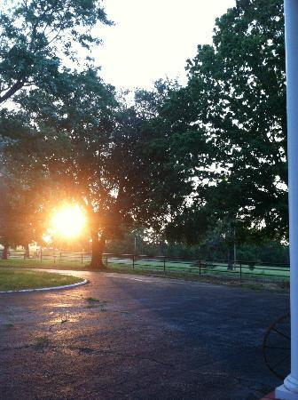 Southern Stables Bed & Breakfast: Beautiful sunset from front porch