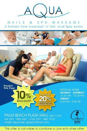 Aqua Nails & Spa : FLYER INFORMATION