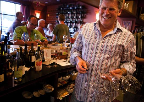 Tastes of the Valleys Wine Bar & Shop: Winemaker Chuck Carlson loves doing the dishes
