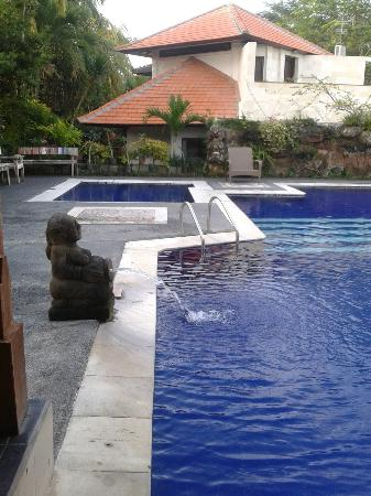 Taman Harum Cottages: Pool with family villa behind it