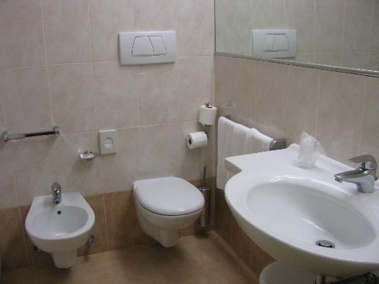 Park Hotel Villa Fiorita: bathroom....no shower curtain