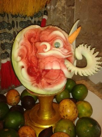 Prama Sanur Beach Bali: Fruit displays at breakfast