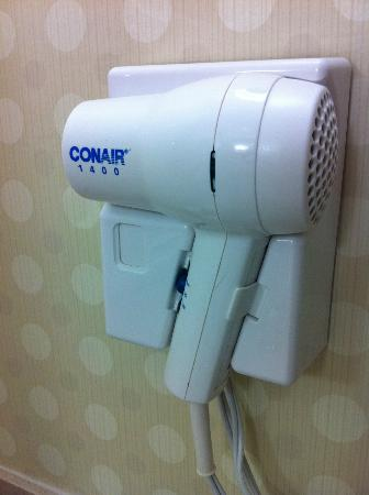 Hilton Garden Inn Mountain View: hairdryer does the work