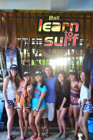 stoked roxy girls! :) (c) Bali learn to surf
