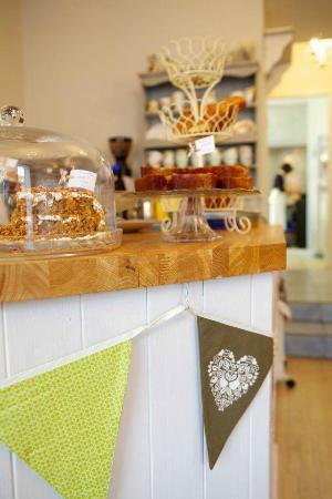 Birdhouse Bakery Tea Room: the baking counter