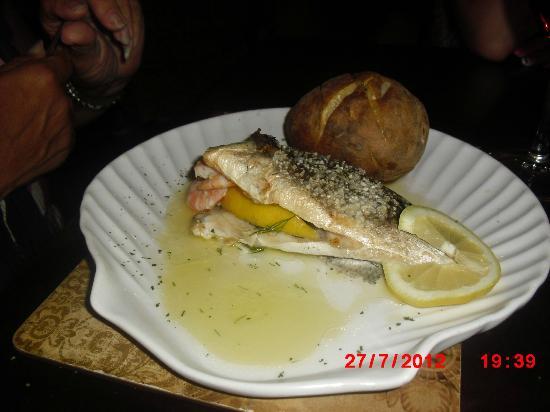 El Naranjo: sea bass stuffed with prawns