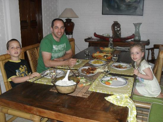 Robins Place: amazing Indonesian feast cooked in our villa
