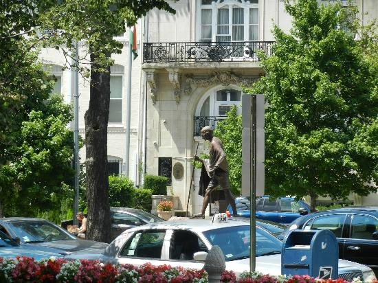 The Fairfax at Embassy Row, Washington D.C.: View of the Father of our Nation outside our Embassy, visible from the front of the Hotel