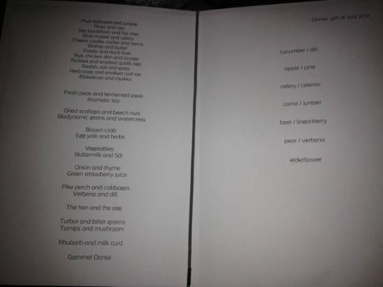 foto de noma copenhague the menu tripadvisor