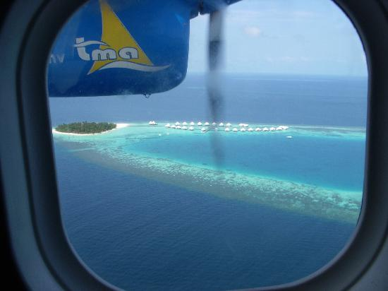Diamonds Athuruga: Athuruga from the sea plane