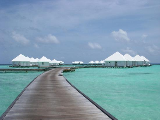 Diamonds Athuruga: View towards the water villas