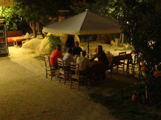 Gumus (Silver) Cave Hotel: At night, friends visit and have cay together