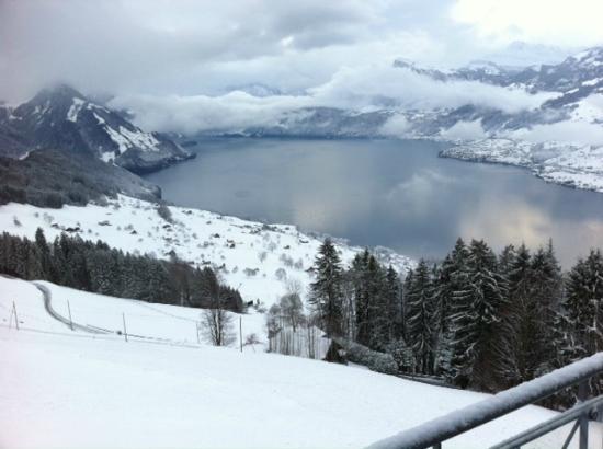 Hotel Villa Honegg : Aussicht vom Balkon