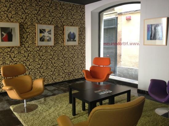 Petit Palace Boqueria Garden: lobby seating area